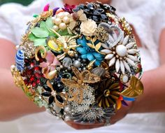 Home of the Brooch Bouquet by Amanda Jane by broochbouquets, $275.00