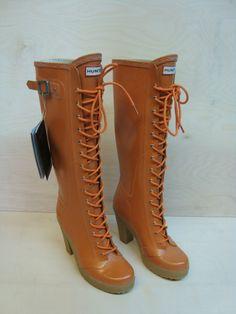 HUNTER LAPINS - UK 6 - EU 39 - Gummistiefel Stiefel Boots Rubber Latex Wellies
