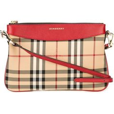Burberry Horseferry check crossbody bag (5.623.380 IDR) ❤ liked on Polyvore featuring bags, handbags, shoulder bags, red, leather cross body purse, burberry handbags, leather crossbody purses, red shoulder bag and leather shoulder handbags