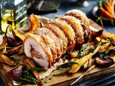 This delicious cranberry and pistachio stuffed pork is tender on the inside, crispy on the outside, creating the perfect balance of flavours and textures for a roast dinner or Christmas lunch.