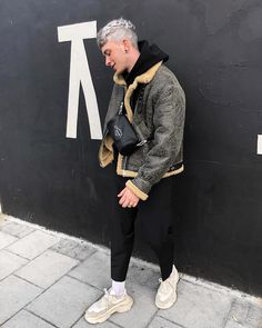 Shearling szn fear of god oversized loopback cotton-jersey hoodie in black; Wish list and beautiful styles from gallucks for designer shoes, bags, and cloth! Swag Outfits Men, Tumblr Outfits, Stylish Outfits, Fashion Outfits, Men Street, Street Wear, Urban Fashion, Mens Fashion, Guy Fashion