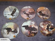 by Ted Bldylock  Alaska Chilkat Bald Eagle Reserve. Limited Edition Fine Porcelain by the Franklin Mint.