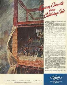 Cured Concrete No Ice Build Skyscraper Dow 1939 AD