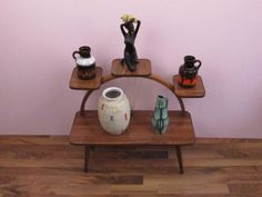 Vintage Blumenbank / Vintage flower table, side table | Germany von ShabbRockRepublic auf Etsy