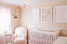 Totally in love with this nursery! Shabby Chic Pink and White Romantic Girl Nursery Room for Baby Juliet Pastel Nursery, Chic Nursery, Nursery Room, Girl Nursery, Peach Nursery, Rose Nursery, Girls Bedroom, Nursery Decor, Bedrooms