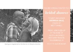 The Photo Banner Bridal Shower Invitation let you add the cutest photo of any couple to make the perfect bridal shower invite.