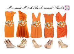 Lovely: Mix and Match Bridesmaids Dresses