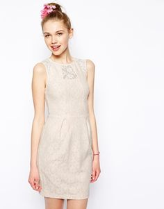 accf3710d4 New Look Bonded Lace Dress at asos.com