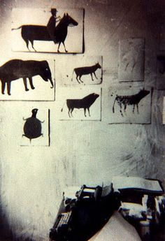 photos of Bill Traylor's first exhibition taken by a New South member.