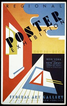 federal art project, wpa, art, exhibition, vintage, vintage posters, graphic design, free download, retro prints, classic posters, Regional Poster Exhibition - Vintage Gallery Art Poster