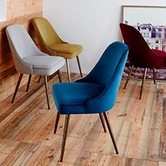 Teal dining table chair from West Elm