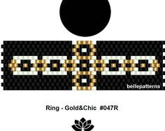 peyote ring pattern,PDF-Download, #047R, beading pattern, beading tutorials, ring pattern
