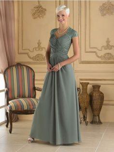 A-Line/Princess V-neck Sleeveless Pleats Floor-Length Chiffon Mother of the Bride Dresses