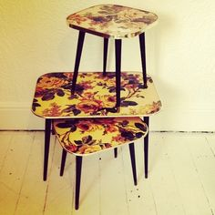 Set of 3 Arnold design retro tables in store now £95 #vintage #retro #antiques #home #homewear #disgracelandvintage #furniture #nicknacks