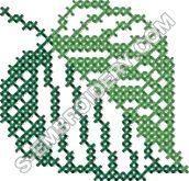 Autumn leaf cross stitch machine embroidery design #4