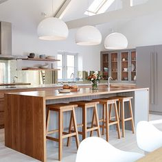 Bespoke kitchens built with the finest materials. We design, craft & deliver classic, shaker & contemporary bespoke kitchens & furniture nationwide. Wood Kitchen Cabinets, Kitchen Doors, Kitchen Dining, Dining Room, Kitchen Reno, Rustic Kitchen, British Kitchen Design, White Washed Oak, Cabinet Door Styles