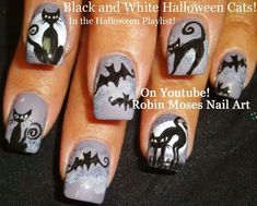 Halloweenie nails!!