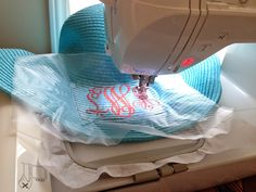Sew Spoiled: Straw Hat Embroidery Tutorial