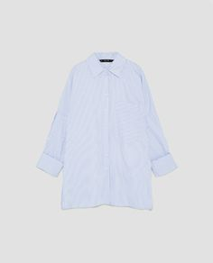 de1744daf4 Image 8 of OVERSIZED STRIPED SHIRT from Zara Oversized Striped Shirt,  Sailor Shirt, Womens