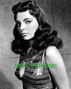 "JOAN COLLINS 8X10 Lab Photo 1955 ""LAND OF THE PHARAOHS"" Sexy Close-Up Portrait"