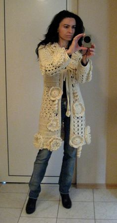 women vests, wool vests, CARDIGAN FLOWERS