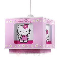 Czterokątna lampa wisząca Hello Kitty dużo zabawy 2507102