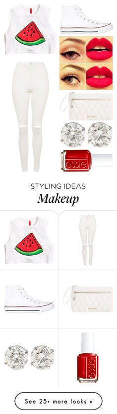 """""""Waltermelon"""" by emmmalaw on Polyvore featuring H&M, Topshop, Converse, Vera Bradley and Essie"""