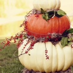 great way to use pumpkins without it looking tacky.