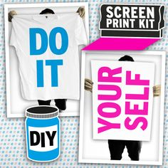 {DIY Screen Printing Kit} by DIY Print Shop - this is pretty cool.
