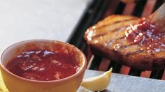 A tasty, teriyaki-style mixture is used as a marinade and basting sauce. Plus, it can be served on the side!