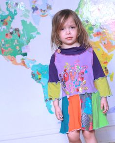 Sale Patchwork Upcycled Recycled Tunic Dress in by MyLittleAura