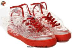 New Adidas X Jeremy Scott Wings Clear Shoes Red For Wholesale