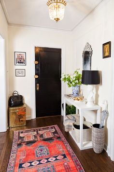 Don't be afraid to add a little style to your entryway.
