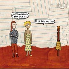 La flaca. Por @levedad  #pelaeldiente #feliz #comic #caricatura #viñeta #graphicdesign #fun #art #ilustracion #dibujo #humor #amor #creatividad #drawing #diseño #doodle #cartoon
