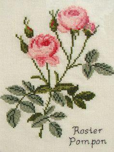 Tiny Cross Stitch, Easy Cross Stitch Patterns, Simple Cross Stitch, Cross Stitch Flowers, Cross Stitch Designs, Cross Stitch Embroidery, Embroidery Patterns, Hand Embroidery, Crochet Bedspread