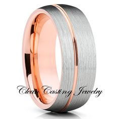 Wedding Rose Gold Jewelry Band Ideas For 2019 Wedding Rings Rose Gold, Bling Wedding, Rose Gold Jewelry, Wedding Ring Bands, Handmade Engagement Rings, Tungsten Wedding Bands, Marie, Rings For Men, Sailor Wedding
