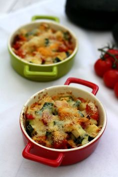 Zucchini and tomato gratin with parmesan - Amandine Cooking - - No Salt Recipes, Vegetable Recipes, Low Carb Recipes, Diet Recipes, Healthy Recipes, Veggie Food, Healthy Baked Beans, Baked Beans On Toast, Ketogenic Diet Meal Plan