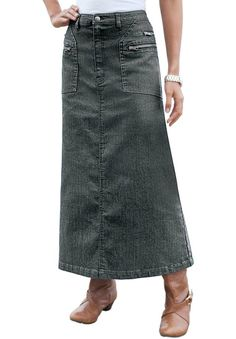 Denim 24/7 Women's Plus Size Mac Stretch Denim A-Line Skirt http://www.amazon.com/exec/obidos/ASIN/B00EIIWUC6/hpb2-20/ASIN/B00EIIWUC6
