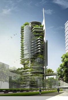 luxury condominiums with continuous Plantings in balconies - Google Search