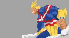 Anime boy, All Might, Boku no Hero Academia wallpaper