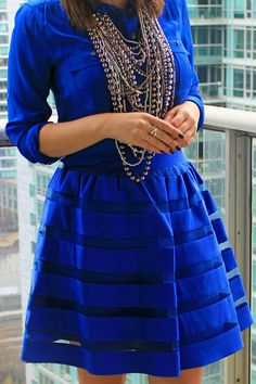 Royal blue love http://ourfavoritestyle.com http://facebook.com/OurFavStyle