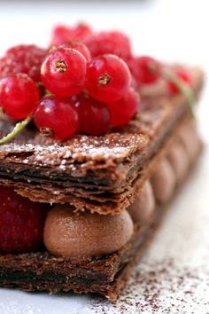 A decadent mille feuille - France makes the most amazing patisserie treats. ♥ Dessert