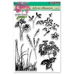 PRE-ORDER Penny Black Delicate Silhouettes Clear Stamp Set