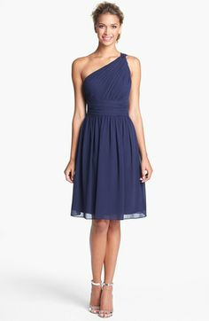 Donna Morgan 'Rhea' One Shoulder Chiffon Dress | Nordstrom