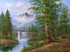 Landscapes oil painting (one) by Chen Jimei - Photos
