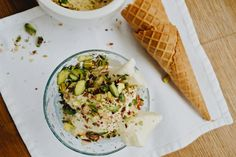 The Libaliano Kitchen - Lebanese and Italian Cooking Classes and Recipes from London: Mastic and Rose Water Ice Cream with Pistachios- Bouza Ashta