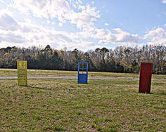 Doors in a field