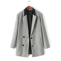 Style Lapel Ripple Buttons Sophisticated Long Sleeve Coat For Women #women, #men, #hats, #watches, #belts, #fashion