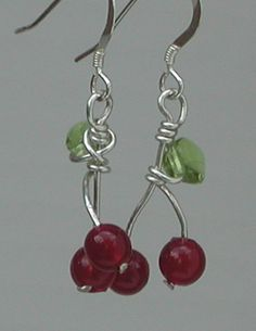 Cherry Earrings by PatriciaBlessDesigns on Etsy