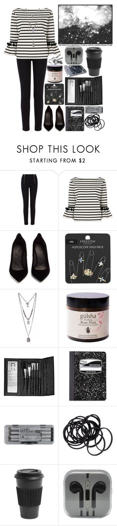 """pardon my friend, but im not here to fck."" by emochildishere ❤ liked on Polyvore featuring Karen Millen, Marc Jacobs, Maison Margiela, Topshop, Gulsha, Sephora Collection, Mead, H&M, Evil Twin and Homage"